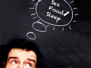 Los hombres piensan en sexo