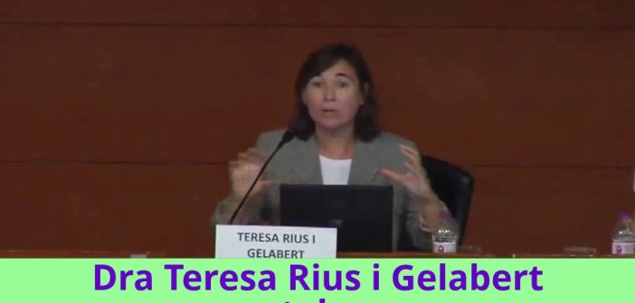 "Conferencia de Teresa Rius en ""Fòrum Dona i Menopausa"""