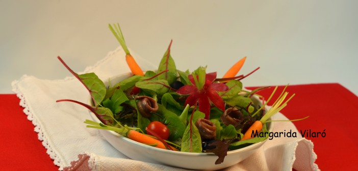 Ensalada de red chard y anchoas