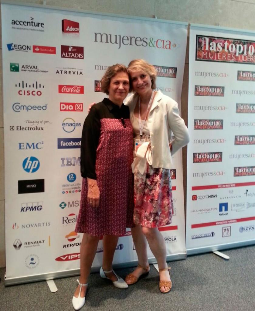 Assumpta Serna y Montse Roura, en la Gala de las Top 100.