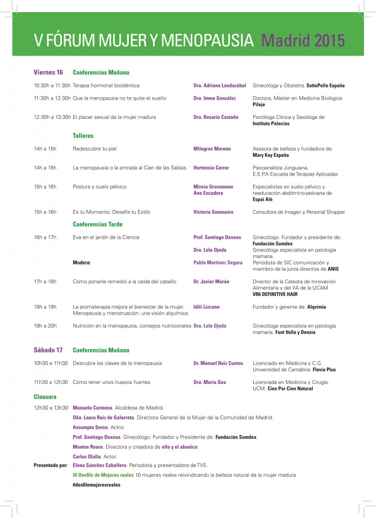 Programa V Forum Mujer y Menopausia-1