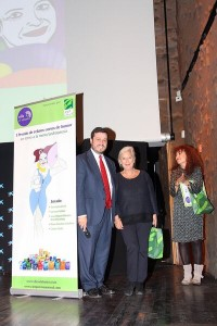 Jose Antonio Castro de 100% Natural junto a Bárbara Fernández Estéban