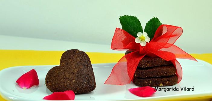 Galletas de avellana y chocolate