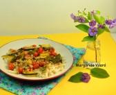 Macarrones de arroz con soja texturizada