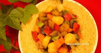 Cuscús integral con verduras