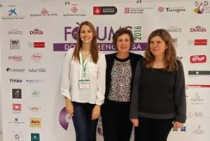 Sara Villegas de VR6 y Elixir Dragó, Montse Roura y Maria Isabel Tost, directora del Caixaforum Lleida