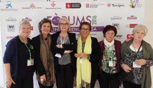 Montse Roura con las fantasticas voluntarias.