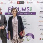 Valentí Farràs director del Caixa Fòrum y Montse Roura directora de ella y el abanico