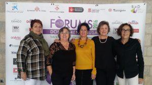 Montse Roura y las voluntarias ¡Gracias!