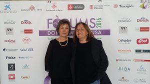 Montse Roura y Rosa Gil, directora del CaixaForum de Girona.