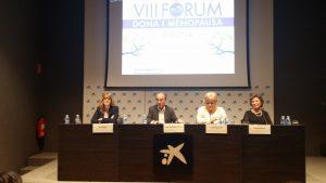 Fina Surina, coordinadora territorial del ICD en Girona, Profesor Santiago Dexeus, Eva Palau regidora delegada de salud y Montse Roura