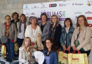 """Montse Roura y las """"gironinas""""."""