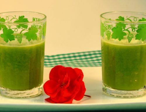Green smothie de manzana y judías verdes
