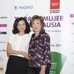 Carmen Girona, jefa de prensa del X FORUM MUJER Y MENOPAUSIA junto a Montse Roura
