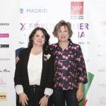Virginia Olmedo, presentadora de las conferencias del viernes junto a Montse Roura