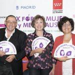Santiago Palacios, Montse Roura y Isabel Fuentes, directora de CaixaForum
