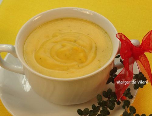 Crema de boniato y wakame