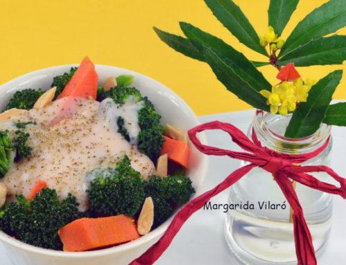 Brócoli con bechamel de alubias