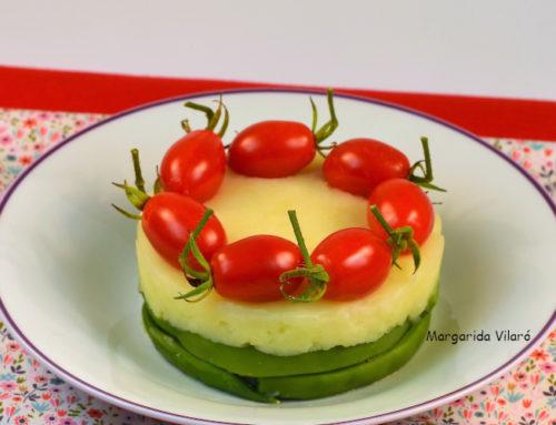 Timbal de patatas y judías verdes