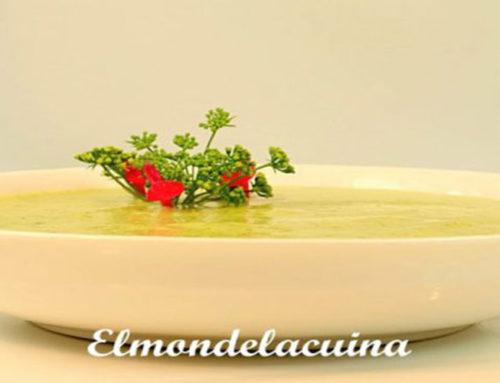 Crema de calabacín y quinoa