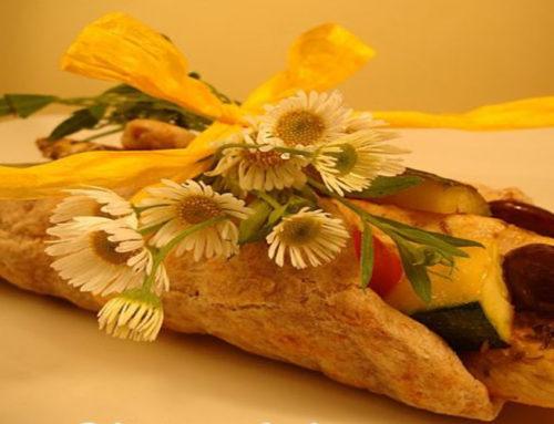 Fajita mexicana de pollo y calabacín