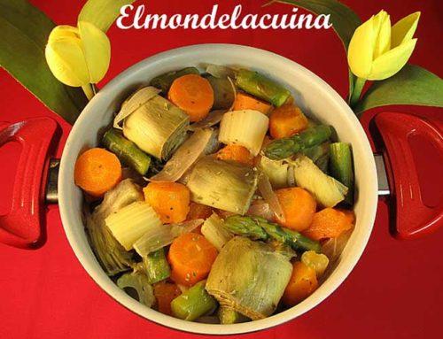 Cazuela multicolor de verduras depurativas
