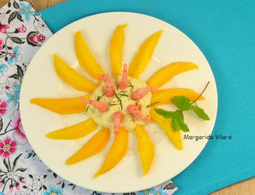 Ensalada de mango y gambas