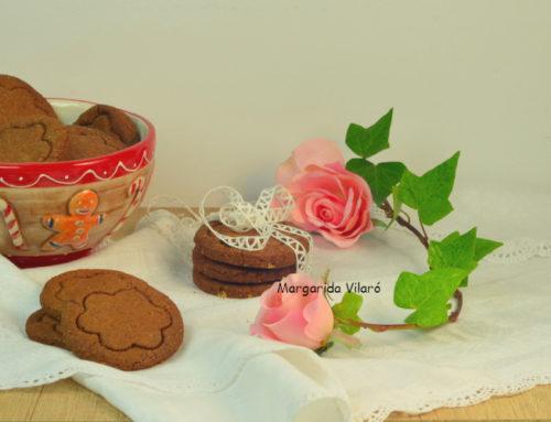 Galletas integrales de chocolate y avellanas