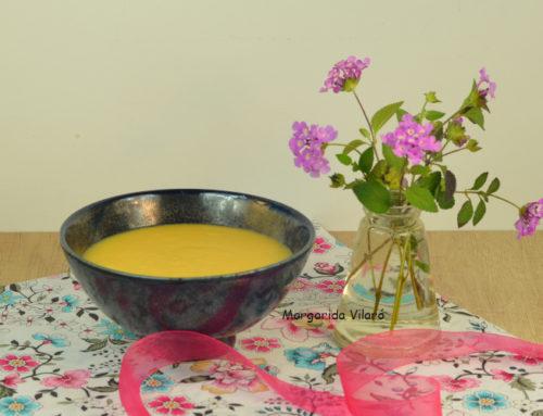 Crema de alubias y calabaza
