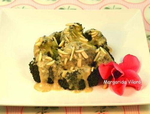 Brócoli con salsa de espelta