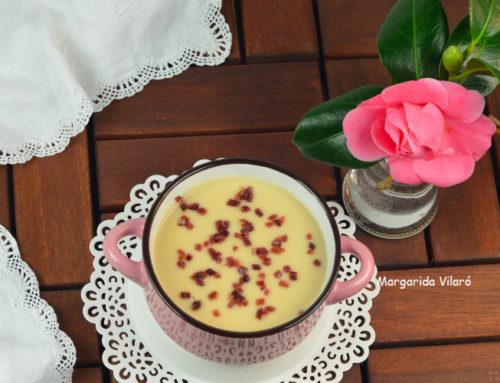 Sopa de alubias con jamón ibérico