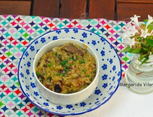 Pilaf de arroz salvaje con setas